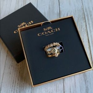 NEW Coach Open Circle Stacking Ring Set F56418